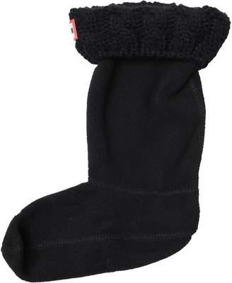 Hunter Kids Tall 6 Stitch Cable Knit Boot Socks Black