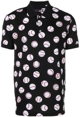 Love Moschino baseball print polo shirt