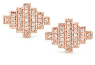 DANA REBECCA 14K Rose Gold Jeb Diamond Stud Earrings - 0.26 ctw