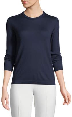 Ralph Lauren Crewneck Long-Sleeve Cashmere Jersey Sweater