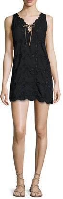 Letarte Doily Sleeveless Crocheted Shift Dress $208 thestylecure.com