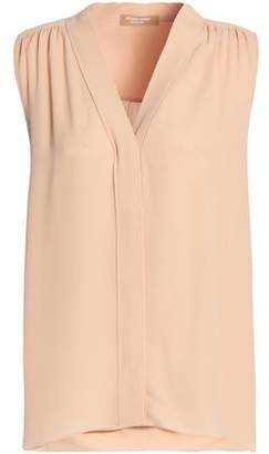 Michael Kors Gathered Silk Crepe De Chine Blouse