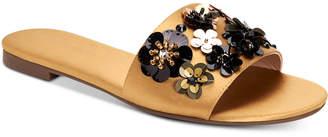 BCBGeneration Garnet Embellished Flat Slide Sandals Women's Shoes