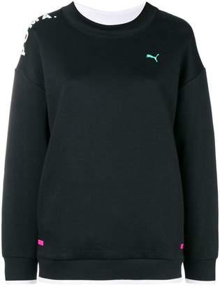 Puma sheer panel sweatshirt