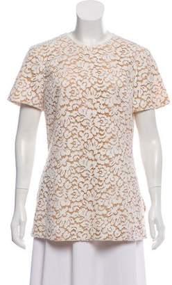 Michael Kors Lace Short Sleeve Top
