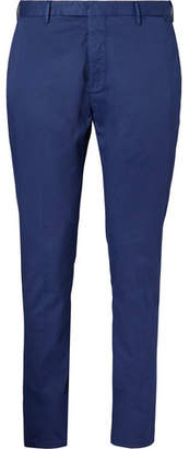 Boglioli Blue Slim-Fit Stretch-Cotton Twill Suit Trousers