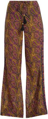 Figue Estela paisley-print cotton-blend trousers