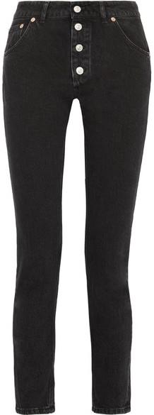 Balenciaga Balenciaga - Tube High-rise Straight-leg Jeans - Dark gray