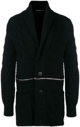 Alexander McQueen zip through cable knit cardigan