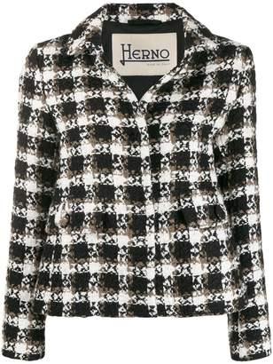 Herno straight-fit tweed jacket