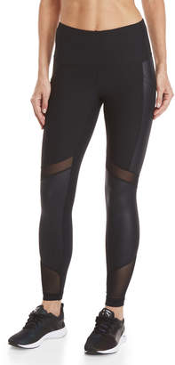 90 Degree By Reflex Shimmer Mesh Panel Ankle Tights