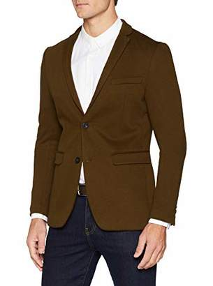 Esprit Men's 108eo2g013 Suit Jacket, Brown (Toffee 5), (Size: 48)