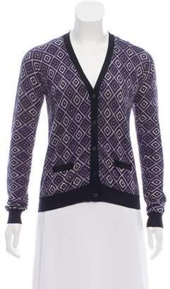 Prada Long Sleeve Knit Cardigan