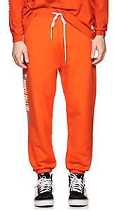Stampd Men's Logo Cotton Fleece Sweatpants-Orange