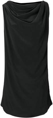 Rick Owens boat neck sleeveless tunic