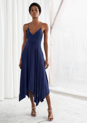 And other stories Micro Strap Handkerchief Midi Dress