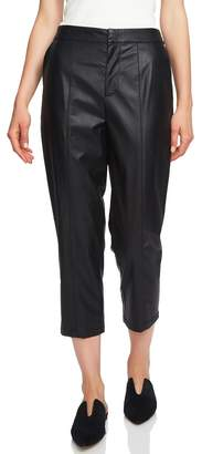 1 STATE 1.STATE Faux Leather Crop Trousers