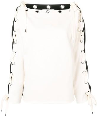 Philosophy di Lorenzo Serafini back logo drawstring sweatshirt