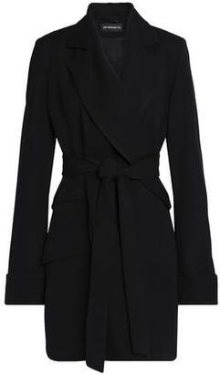 Ann Demeulemeester Belted Wool And Cotton-blend Twill Coat