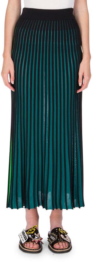 KenzoKENZO Two-Tone Jersey Maxi Skirt, Midnight Blue