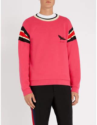 Gucci Shark-print cotton-jersey sweatshirt