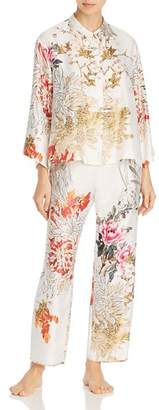 Natori Satin Printed Long PJ Set