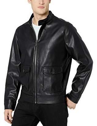 Calvin Klein Men's Faux Leather Two Pocket Jacket