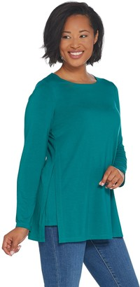 Dennis Basso Soft Touch Long Sleeve Tunic with Side Godets
