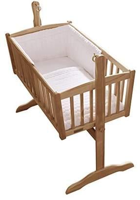 Clair De Lune Marshmallow Crib/Cradle Quilt & Bumper Bedding Set - White