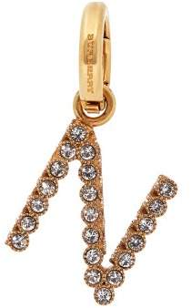 Burberry N Crystal Embellished Letter Charm - Womens - Crystal