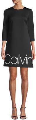 Calvin Klein Embellished Roundneck Shift Dress