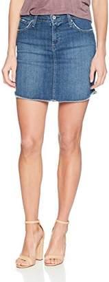 James Jeans Women's Daisy Mid Length Cut-Off Skirt