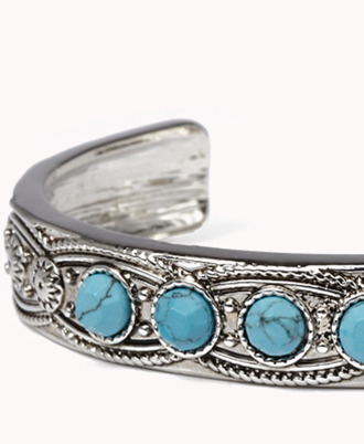 Forever 21 Out West Natural Stone Cuff