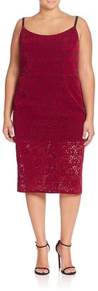 ABS by Allen Schwartz ABS, Plus Size Women's Floral Lace Sheath Dress