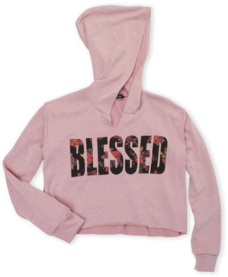 miss popular (Girls 7-16) Blessed Cropped Hoodie