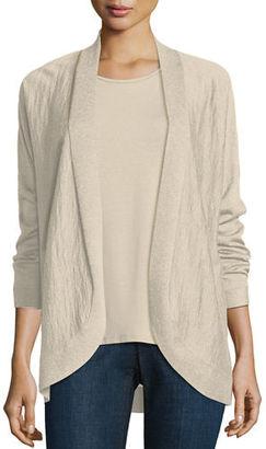 Eileen Fisher Fine Tencel® Alpaca Oval Cardigan $119 thestylecure.com