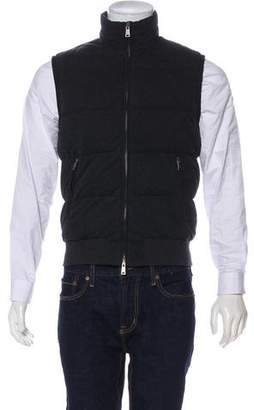 Ralph Lauren Purple Label Herringbone Quilted Down Vest