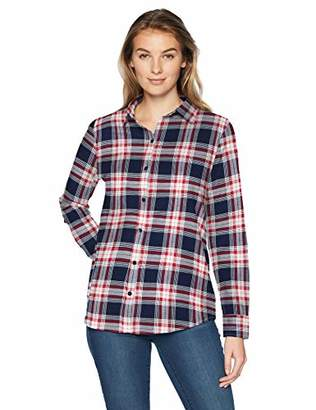 Amazon Essentials Women's Long-Sleeve Classic-Fit Lightweight Plaid Flannel Shirt Shirt