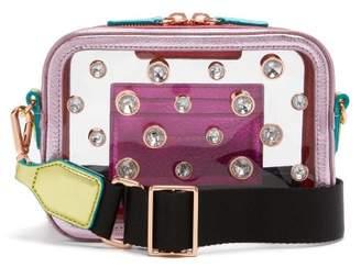 Sophia Webster Dina Crystal Metallic Leather Camera Bag - Womens - Multi