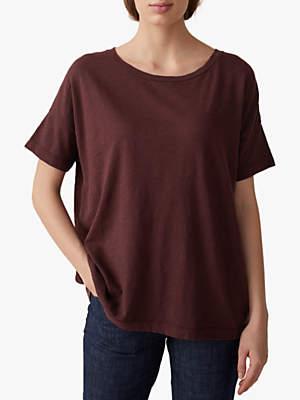 57377b06 Toast Boxy Cotton T-Shirt, Plum