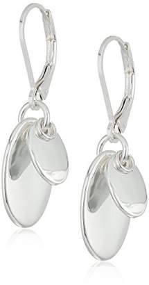 Chaps Women's Layered Disc Drop Leverback Drop Earrings