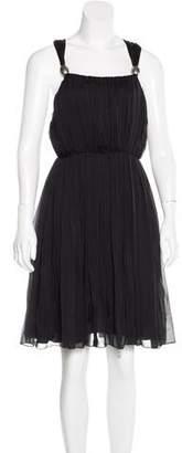 Thomas Wylde Silk Pleated Dress