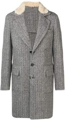 Ermanno Scervino herringbone single-breasted coat