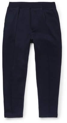 Prada Cropped Cotton-Blend Tech-Jersey Sweatpants