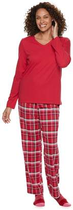 Croft & Barrow Women's Tee, Pants & Socks Pajama Set