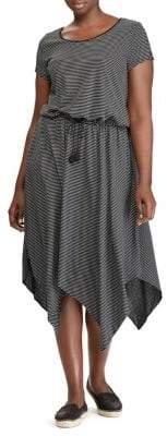 Lauren Ralph Lauren Plus Short-Sleeve Handkerchief Dress