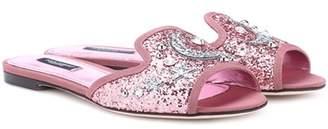 Dolce & Gabbana Bianca glitter sandals