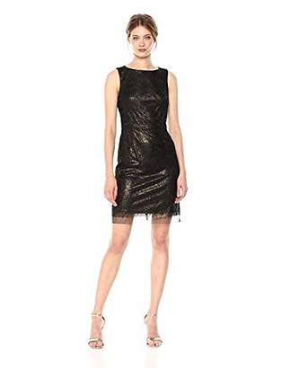 Betsey Johnson Women's Sleeveless Sequin Sheath Dress