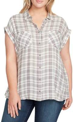 Plus Kinsley Woven Tied-Back Top