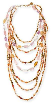 Devon Leigh Beaded Quartz, Amethyst & Citrine Multi-Strand Necklace